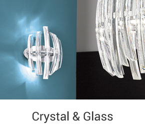 Crystal & Glass Wall Lights