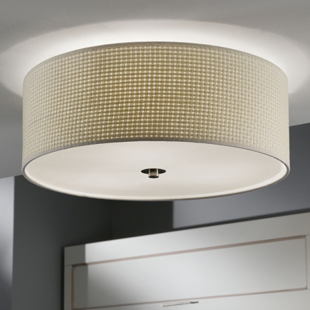 Bedroom ceiling light styles fabric flush aloadofball Image collections