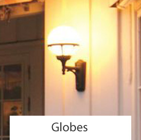 Outdoor Globe Wall Lights