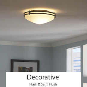 Decorative Flush & Semi Flush Ceiling Lights